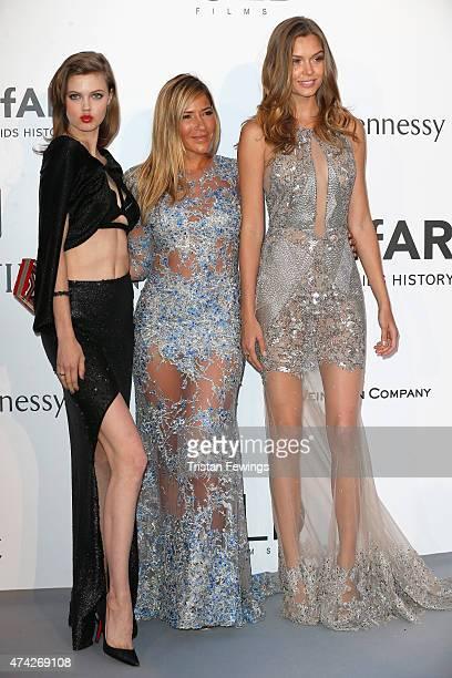 Model Lindsey Wixson designer Gabriela Cadena and model Josephine Skriver attend amfAR's 22nd Cinema Against AIDS Gala Presented By Bold Films And...