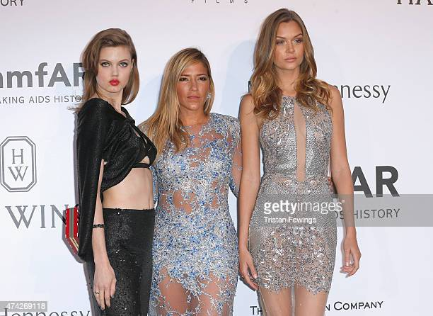 Model Lindsey Wixson designer Gabriela Cadena and model Josephine Skriver attend amfAR's 22nd Cinema Against AIDS Gala Presented By Bold Films And...
