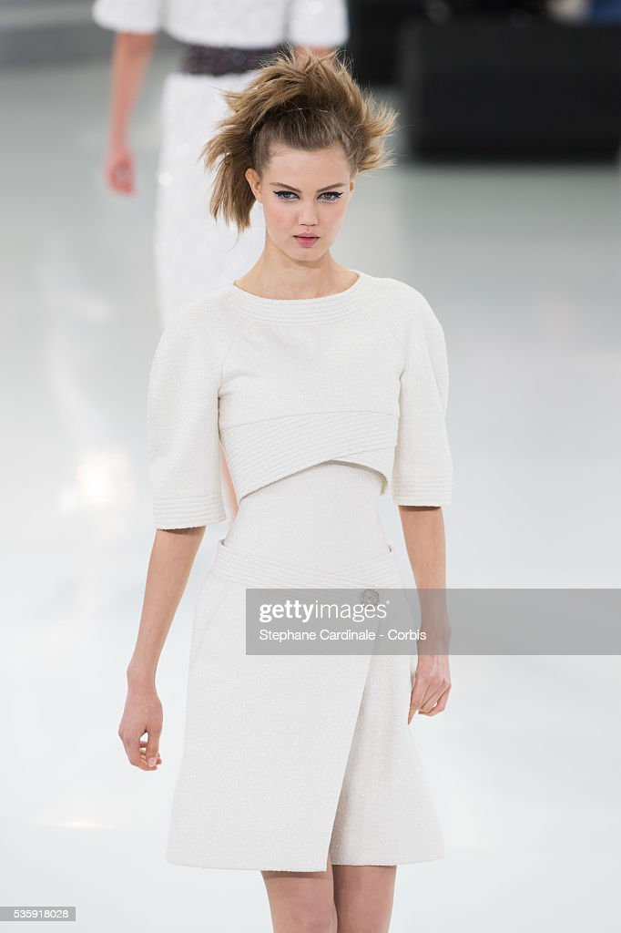 Model Lindsey Wixson walks the runway during the Chanel show as part of Paris Fashion Week Haute-Couture Spring/Summer 2014, at Grand Palais in Paris.
