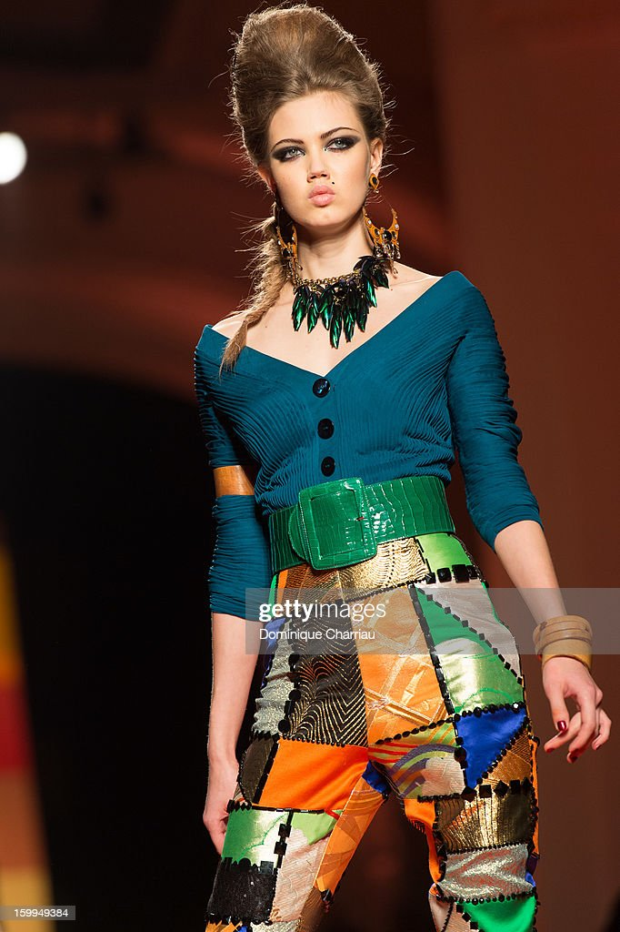 Model Lindsey Wixson walks the runway during the Jean Paul Gaultier Spring/Summer 2013 Haute-Couture show as part of Paris Fashion Week at on January 23, 2013 in Paris, France.