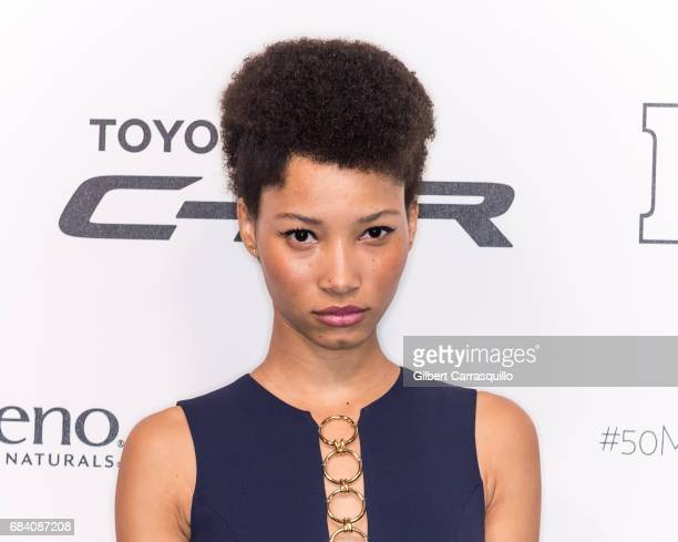 Model Lineisy Montero arrives at People en Espanol's 50 Most Beautiful Gala 2017 at Espace on May 16 2017 in New York City