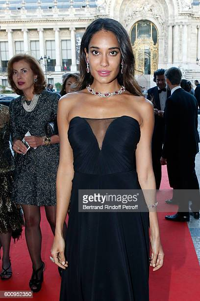 Model Lisa Haydon attends the 28th Biennale des Antiquaires PreOpening at Grand Palais on September 8 2016 in Paris France