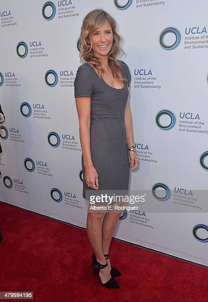Model Lisa Marie Sheldon attends An Evening of Environmental Excellence presented by the UCLA Institute of the Environment and Sustainability on...