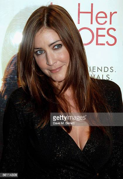 Model Lisa Snowdon arrives at the UK Premiere of In Her Shoes at the Empire Leicester Square on November 7 2005 in London England