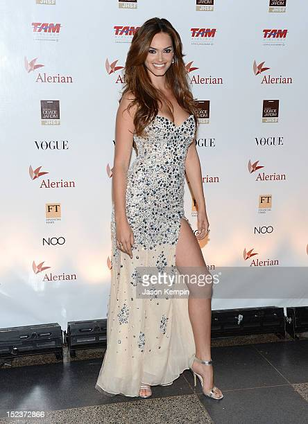 Model Lisalla Montenegro attends the Annual Brazil Foundation Gala Party at the American Museum of Natural History on September 19 2012 in New York...
