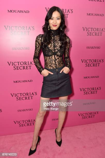 Model Liu Wen attends the 2017 Victoria's Secret Fashion Show In Shanghai After Party at MercedesBenz Arena on November 20 2017 in Shanghai China