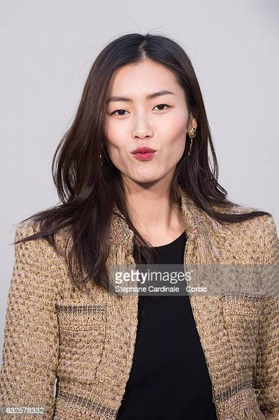 Model Liu Wen attends the Chanel Haute Couture Spring Summer 2017 show as part of Paris Fashion Week on January 24, 2017 in Paris, France.
