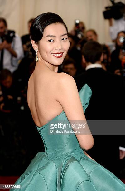 "Model Liu Wen attends the ""Charles James: Beyond Fashion"" Costume Institute Gala at the Metropolitan Museum of Art on May 5, 2014 in New York City."