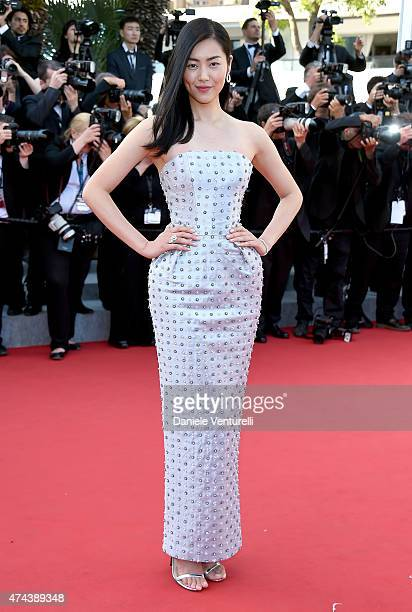 Model Liu Wen attends the 'Little Prince' Premiere during the 68th annual Cannes Film Festival on May 22 2015 in Cannes France