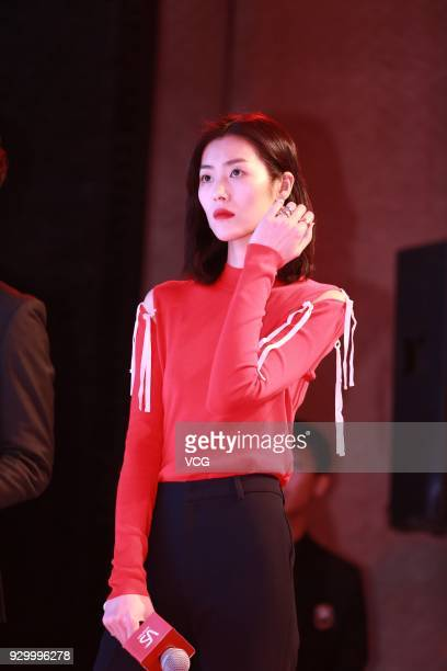 Model Liu Wen attends the VS Sassoon event on March 10 2018 in Guangzhou Guangdong Province of China