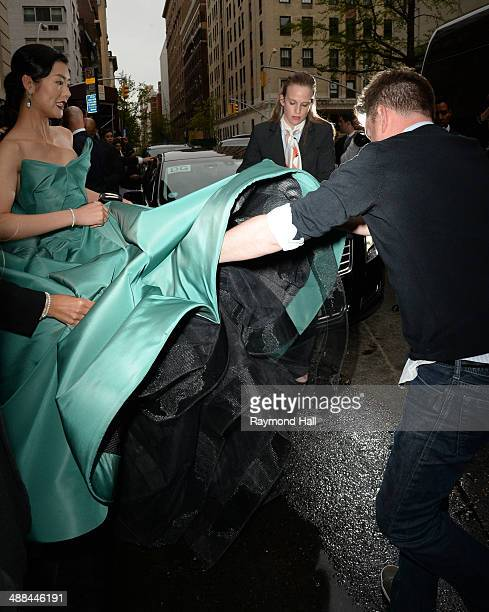 Model Liu Wen departs the Mark Hotel for the Met Gala at the Metropolitan Museum of Art on May 5 2014 in New York City