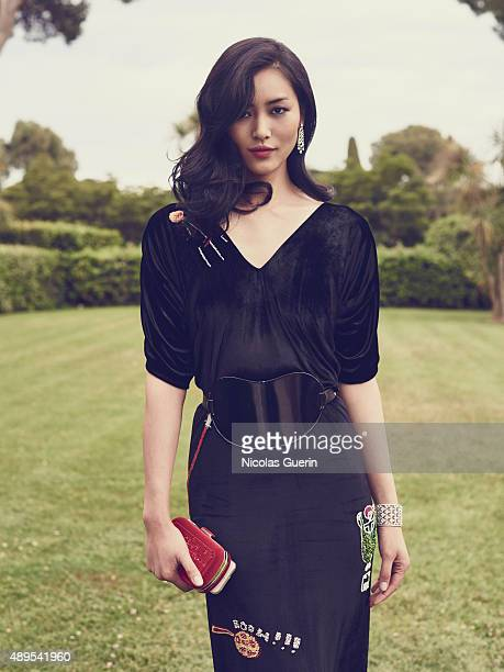 Model Liu Wen is photographed for Self Assignment on May 15 2015 in Cannes France