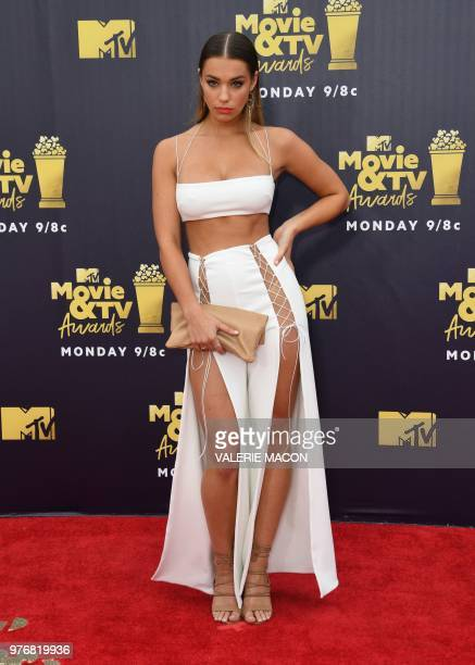 Model Liv Pollock attends the 2018 MTV Movie TV awards at the Barker Hangar in Santa Monica on June 16 2018 This year's show is not live It will be...
