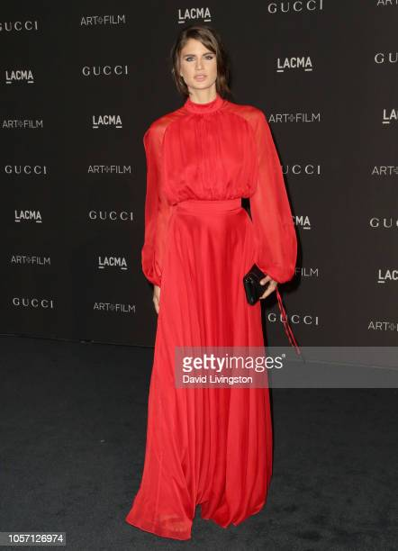 Model Livia Pillmann attends 2018 LACMA Art Film Gala honoring Catherine Opie and Guillermo del Toro presented by Gucci at LACMA on November 3 2018...