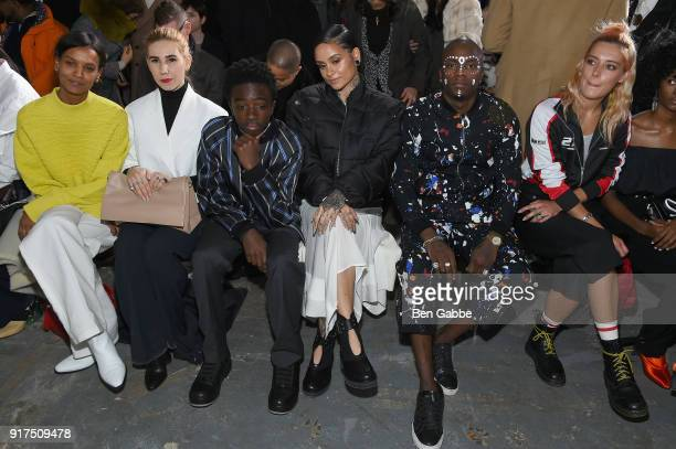 Model Liya Kebede actors Zosia Mamet and Caleb McLaughlin recording artists Kehlani and young paris and model Chloe Norgaard attend the 31 Phillip...