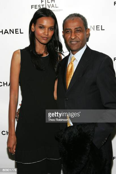 Model Liya Kebede and Kassy Kebede arrive at the Chanel Dinner held at the Greenwich Hotel during the 2008 Tribeca Film Festival on April 28 2008 in...