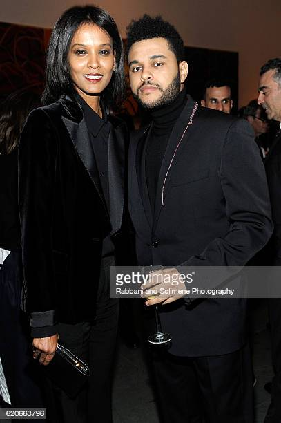 Model Liya Kebede and musician The Weeknd attend the WSJ Magazine 2016 Innovator Awards at Museum of Modern Art on November 2 2016 in New York City