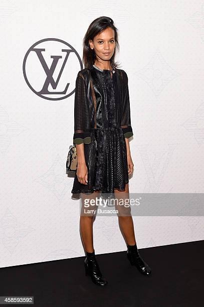 Model Liya Kebede attends Louis Vuitton Monogram celebration at Museum of Modern Art on November 7 2014 in New York City