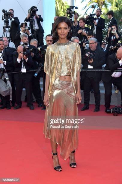 Model Liya Kebede attends the '120 Beats Per Minute ' screening during the 70th annual Cannes Film Festival at Palais des Festivals on May 20 2017 in...