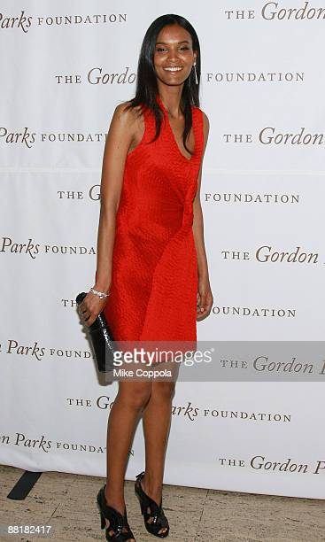 Model Liya Kebede attends the Gordon Parks Foundation's Celebrating Fashion Awards Gala at Gotham Hall on June 2 2009 in New York City
