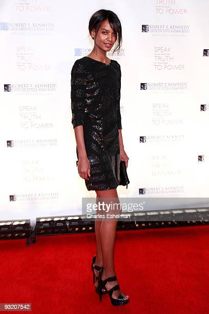 Model Liya Kebede attends the RFK Center Ripple of Hope Awards dinner at Pier Sixty at Chelsea Piers on November 18 2009 in New York City