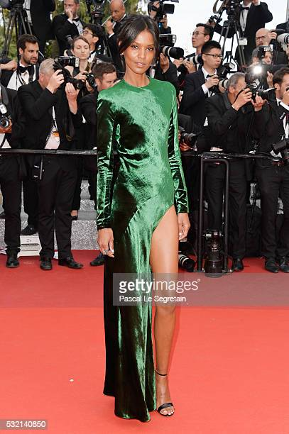 Model Liya Kebede attends 'The Unknown Girl ' Premiere during the 69th annual Cannes Film Festival at the Palais des Festivals on May 18 2016 in...