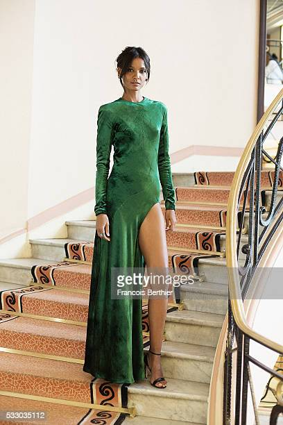 Model Liya Kebede is photographed for Gala on May 18 2016 in Cannes France