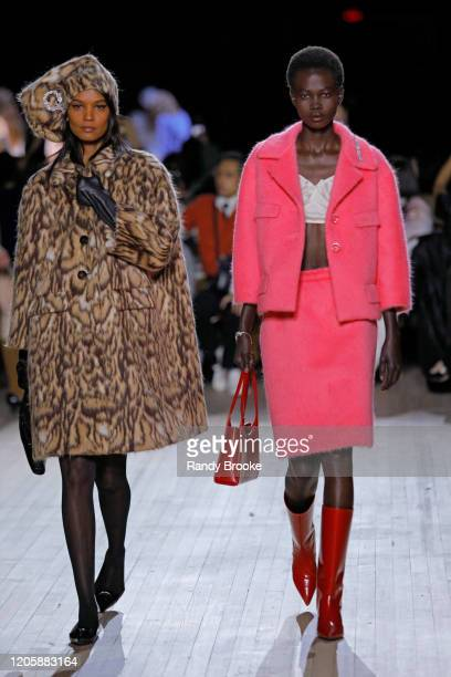 Model Liya Kebede walks the runway during the Marc Jacobs Fall Winter 2020 fashion show at the Park Avenue Armory on February 12, 2020 in New York...