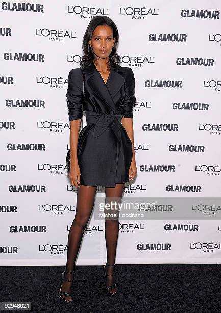 Model Liya Kedebe attends the Glamour Magazine 2009 Women of The Year Honors at Carnegie Hall on November 9 2009 in New York City
