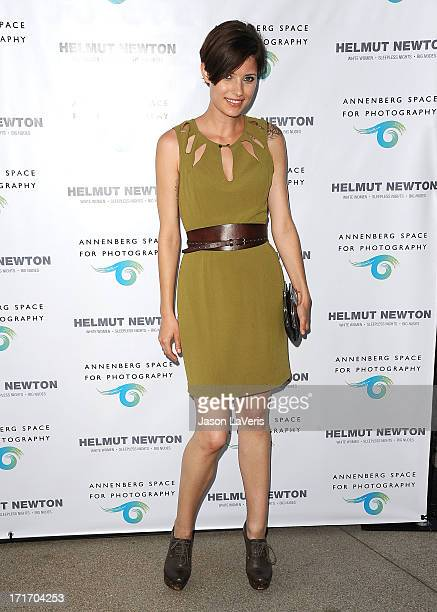 Model Liz Vranesh attends the opening of 'Helmut Newton White Women Sleepless Nights Big Nudes' at Annenberg Space For Photography on June 27 2013 in...