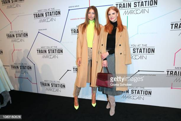 Model Lorena Rae and Sarah Rafferty during the Marc Cain Fashion Show Autumn/Winter 2019 at Deutsche Telekom's representative office on January 15...