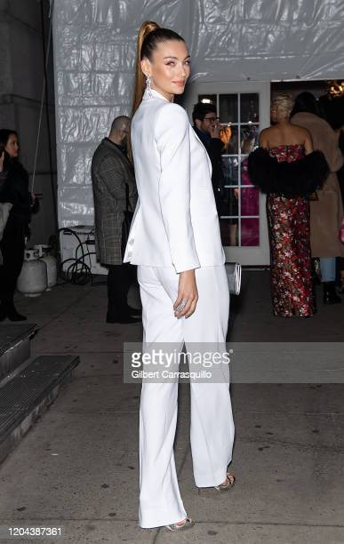 Model Lorena Rae is seen arriving to the 2020 amfAR New York Gala at Cipriani Wall Street on February 05 2020 in New York City