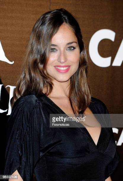 Model Lorena Van Heerde attends 'Alicia en el Pais de las Maravillas' premiere at Proyecciones Cinema on April 13 2010 in Madrid Spain