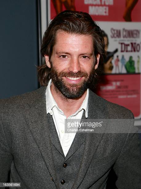 Model Louis Dowler attends The Cinema Society with Roger Dubuis and Grey Goose screening of FilmDistrict's Olympus Has Fallen at the Tribeca Grand...