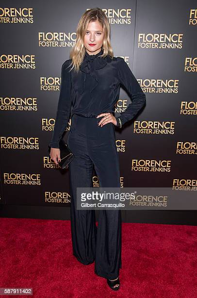 Model Louisa Gummer daughter of actress Meryl Streep attends the 'Florence Foster Jenkins' New York premiere at AMC Loews Lincoln Square 13 theater...