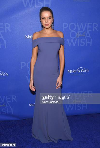 Model Louisa Warwick attends the 35th Anniversary MakeAWish Metro New York Gala at Cipriani Wall Street on June 7 2018 in New York City
