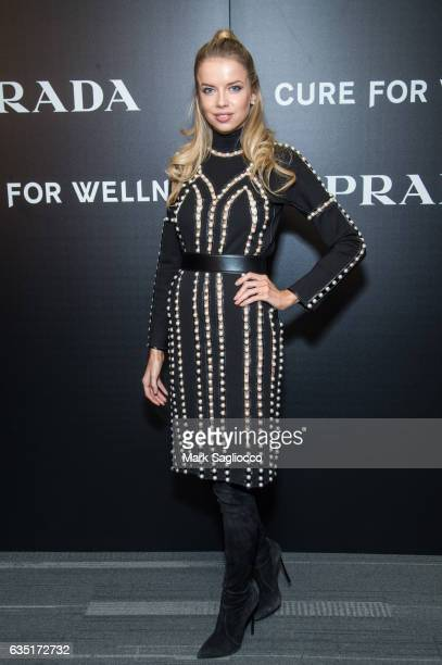 Model Louisa Warwick attends the Cinema Society Screening Of 'A Cure For Wellness' at Landmark's Sunshine Cinema on February 13 2017 in New York City