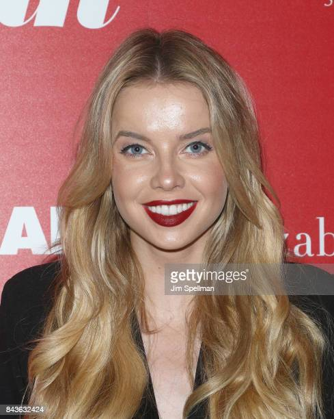 Model Louisa Warwick attends the screening of Open Road Films' 'Home Again' hosted by The Cinema Society with Elizabeth Arden and Lindt Chocolate at...