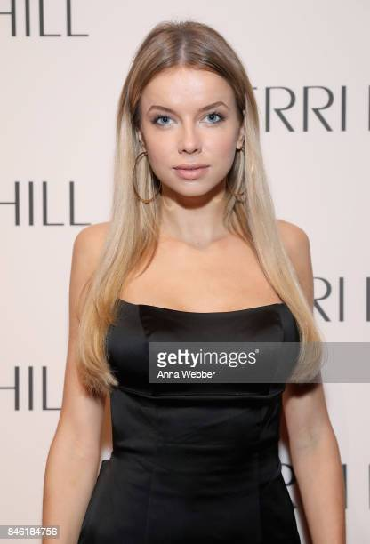 Model Louisa Warwick attends the Sherri Hill NYFW SS18 runway show at Gotham Hall on September 12 2017 in New York City