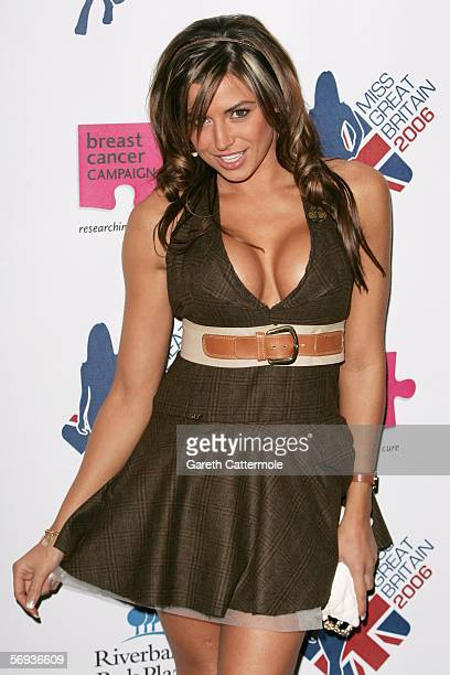 Model Louise Glover takes part in the grand final of Miss Great Britain 2006 at the Grosvenor House Hotel on February 25 2006 in London England The...