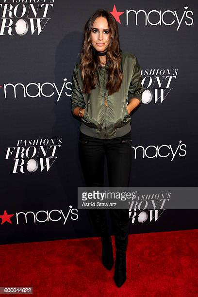 Model Louise Roe attends Macy's Presents Fashion's Front Row on September 7 2016 in New York City