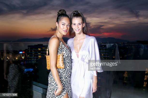 Model Lovelyn Enebechi and model Betty Taube attend the Remus Lifestyle Night on August 2 2018 in Palma de Mallorca Spain