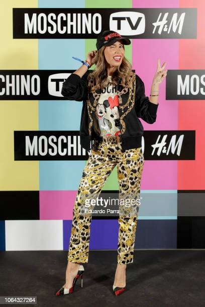 Model Lucia Rivera attends the 'HM Moschino ' photocall at Rolling Space on November 06 2018 in Madrid Spain