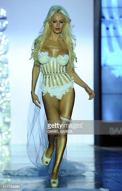 Model Luciana Salazar displays a lingerie creation by Argentinian designer Claudio Cosano during Buenos Aires High Fashion part of Argentina Fashion...