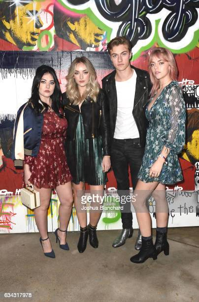 Model Lucky Blue Smith and guests attend the TommyLand Tommy Hilfiger Spring 2017 Fashion Show on February 8 2017 in Venice California