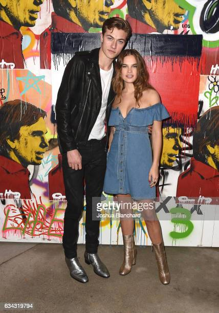 Model Lucky Blue Smith and Stormi Henley attend the TommyLand Tommy Hilfiger Spring 2017 Fashion Show on February 8 2017 in Venice California