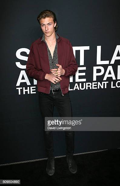 Model Lucky Blue Smith attends Saint Laurent at Hollywood Palladium on February 10 2016 in Los Angeles California