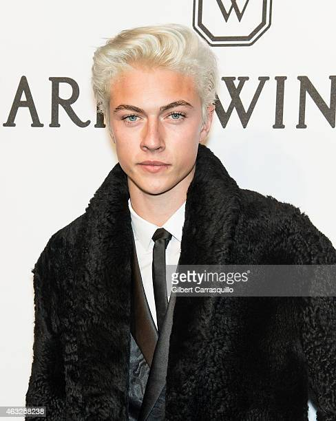 Model Lucky Blue Smith attends the 2015 amfAR New York Gala at Cipriani Wall Street on February 11 2015 in New York City