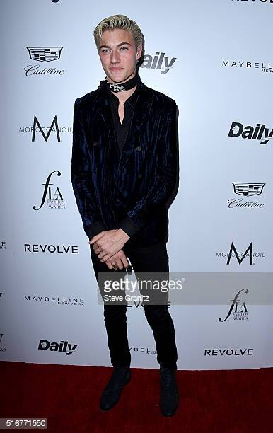 "Model Lucky Blue Smith attends the Daily Front Row ""Fashion Los Angeles Awards"" at Sunset Tower Hotel on March 20, 2016 in West Hollywood, California."