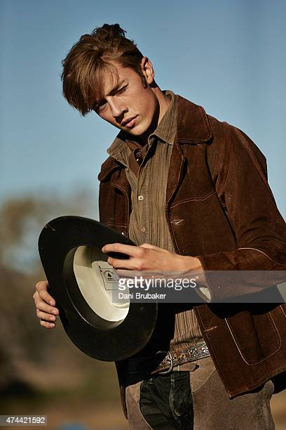Model Lucky Blue Smith is photographed for Self Assignment on August 27 2014 in Los Angeles California